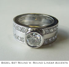 forever design charles and shoulders halo rh band thick round ring brilliant basket sp colvard with filigree moissanite rings products cttw diamond